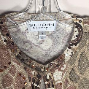 St. John Sweaters - St. John Evening Cardigan detailed Sweater size 2